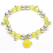Colorful Paw Stretch Bracelet Yellow