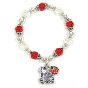 Teachers Prayer Beaded Charm Locket Bracelet