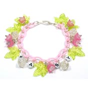 Baby Celebration Charm Bracelets By Iris Pink Or Blue
