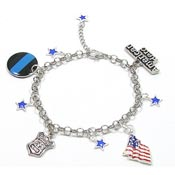 Adjustable Police Charm Bracelet