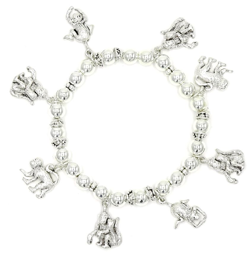 s bracelet inches sterling charm childrens silver amazon dp children long