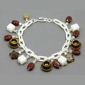 Coffee Celebration Charm Bracelets By Iris Three Styles