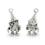 Silver 3D Gnome Charm Doublesided