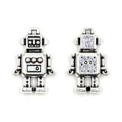 Silver 3D Robot Charm Doublesided