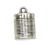 Silver Plated Spool Charm