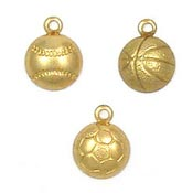 Mini Sports Charms Brass