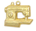Sewing Machine Charm Brass