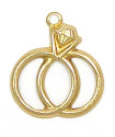 Two Rings Charm Brass