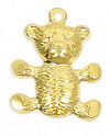 Teddy Bear Charm Brass
