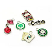 Gambling Casino Themed Charms Set Of Six