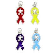 Autism Cut Out Puzzle Piece Ribbon Charms