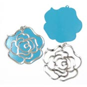 Jumbo Rose Cutout Charms