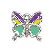 Multi Colored Butterfly Charm