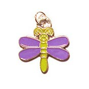 Purple Dragonfly Charm
