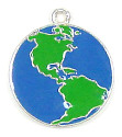 Enamel Earth Globe Charm
