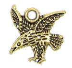 Gold Flying Eagle Charm