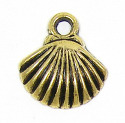 Medium Gold Plated Shell Charm