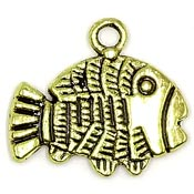 Gold Plated Fish Charm