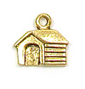 Dog House Charm Gold