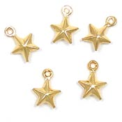 Mini Double Sided Gold Star Charm