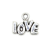 Small Silver Love Word Charm