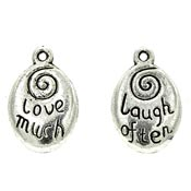 Love Much Laugh Often Charm Double Sided