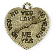 Loves Me Loves Me Not Heart Spinning Charm