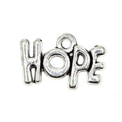 Medium Silver Hope Word Charm