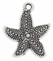 Medium Silver Starfish Charm