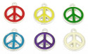 Colorful Peace Sign Charms