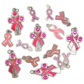 Clearance Pink Ribbon Charm Lots IRREGULARS