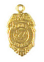 Police Badge Charm Brass