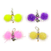 Pom Pom Cheerleader Charm Set