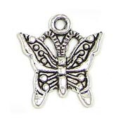 Silver Plated Small Butterfly Charm 2