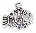 Silver Plated Fish Charm