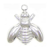 Medium Silver Plated Bee Charm