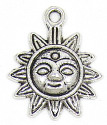 Silver Plated Sun Charm