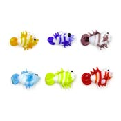 Lampwork Glass Fish Charms Six Piece Set