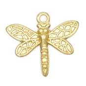 Small Dragonfly Charm Brass