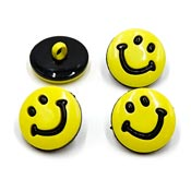 Four Yellow Smiley Face Buttons