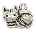 Kitty Charm Silver