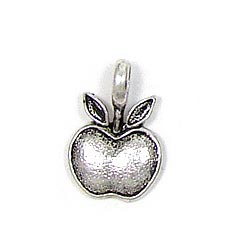 Silver Plated Apple Charm