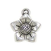 Pointed Petal Flower Charm