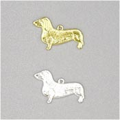 Silver Or Gold Dachshund Charms