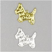 Silver Or Gold Terrier Charms