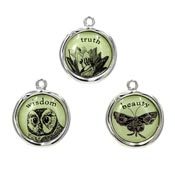 Nature Themed Truth Wisdom Beauty Charm Set