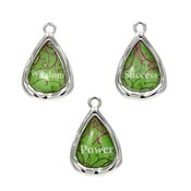 Teardrop Shaped Wisdom Success Power Charm Set