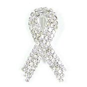 Super Sparkly Clear Ribbon Pin