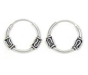 Sleeper Hoop 14mm Double Bali Wave