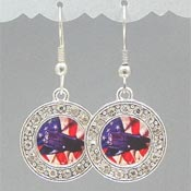 Crystal Studded Police Earrings